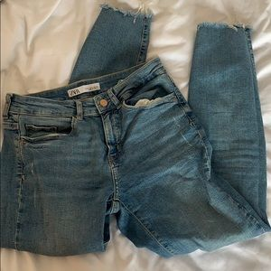 Zara blue denim skinny jean